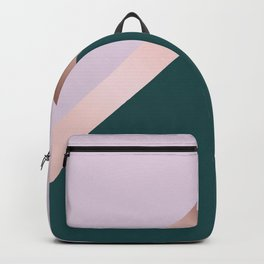 Rose gold, teal and purple Backpack