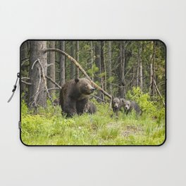 Charting the Course - Grizzly 399 with Her Four Cubs Laptop Sleeve