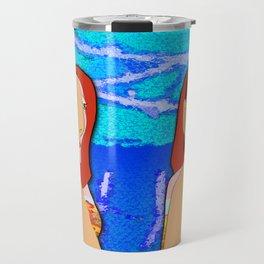 Lovers - Blue Travel Mug