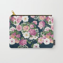 Roselyn Floral - Navy Carry-All Pouch