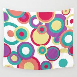 Colorful Circles Wall Tapestry