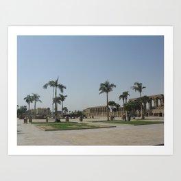 Temple of Luxor, no. 7 Art Print