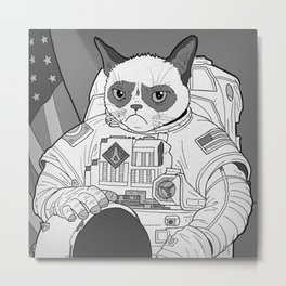 The Grumpiest Astronaut Metal Print