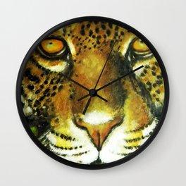 Wildlife Animal Painting - Jaguar Wall Clock