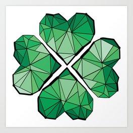 Geometrick lucky charm Art Print