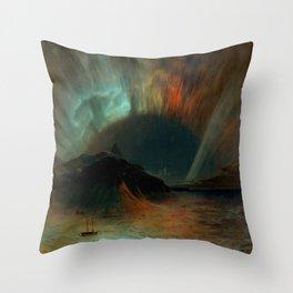Aurora Borealis by Frederic Edwin Church Throw Pillow