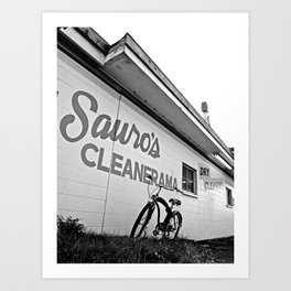 At the cleaners Art Print