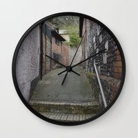 winchester Wall Clocks featuring Winchester Alley by Ashley Callan