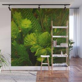 Green Hawaiian Succulents Wall Mural