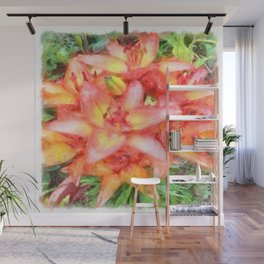 Helen's Lilies Watercolor Wall Mural