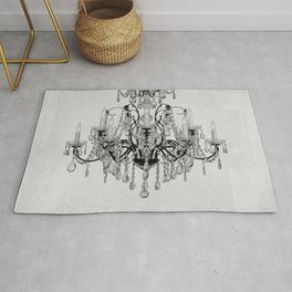 belle epoque chandelier Rug
