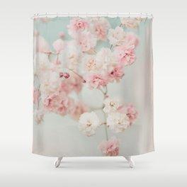 Gypsophila pink blush ll Shower Curtain