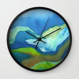 Hanalei Mountain Wall Clock