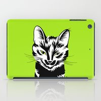 black cat iPad Cases featuring Black cat by LaDa