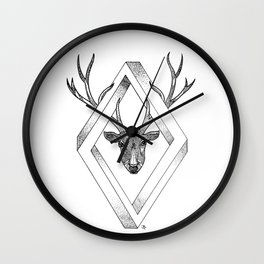Infinite Deer Wall Clock
