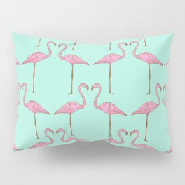 Pink Flamingo Pillow Sham