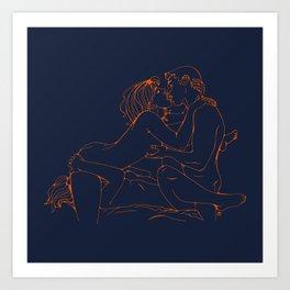 Multiple love Art Print