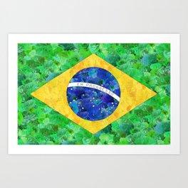 BRASIL em progresso Art Print