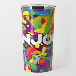Colourful Bonjour Travel Mug