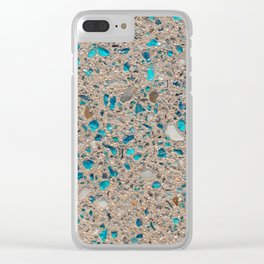 Colorful recycled glass for construction of concrete sidewalk Clear iPhone Case