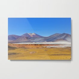 Atacama Salt Lake Metal Print