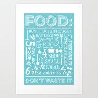 Food - blue Art Print