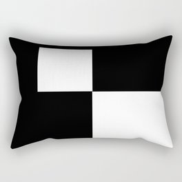Black and White Color Block #2 Rectangular Pillow