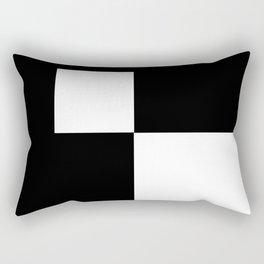 Black and White Color Block #2 Rectangular Pillow