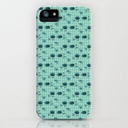 country blue flowers pattern iPhone Case
