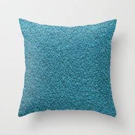 Light Blue Fleecy Material Texture Throw Pillow