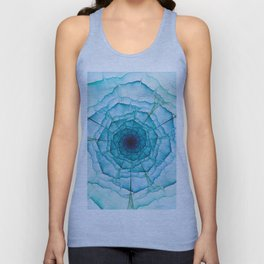 Aqua-green marine flower Unisex Tank Top