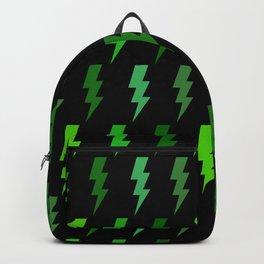 Green Lightning Bolt Electric Storm Thunder Backpack
