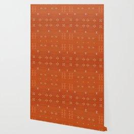 N248 - Lovely Brown Camel Berber Oriental Bohemian Moroccan Fabric Style Wallpaper