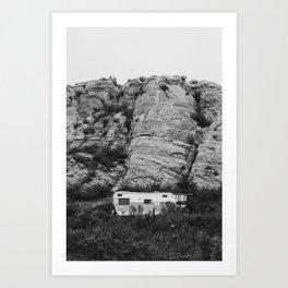 Desert Trailer Art Print