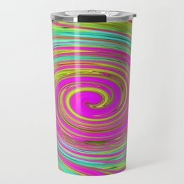 Groovy Abstract Pink Swirl Art 094 Travel Mug