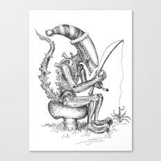 Alien gnome Canvas Print