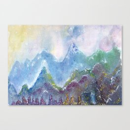 Forest of Light Watercolor Illustration Canvas Print
