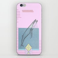 the whale iPhone & iPod Skins featuring WHALE by MAR AMADOR