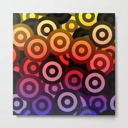 Rainbow Bullseye Metal Print