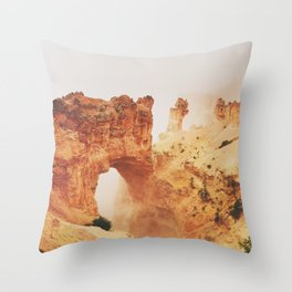 The Rocky Archway (Color) Throw Pillow