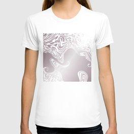 Rose Gold Liquid Marble Effect Design T-shirt