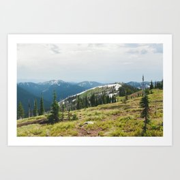 BITTERROOT MOUNTAINS  Art Print