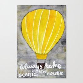 Yellow hot air balloon Canvas Print