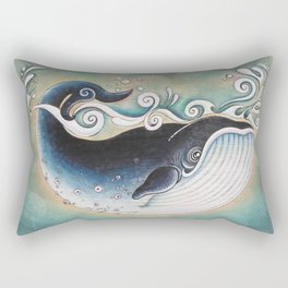 the Blue Whale Rectangular Pillow