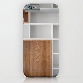 Empty closet shelves iPhone Case
