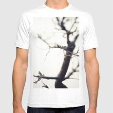 Small Tree MEDIUM White Mens Fitted Tee