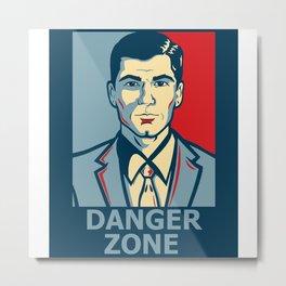 Archer DangerZone Metal Print
