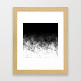 Ombre Black White Clouds Minimal Framed Art Print