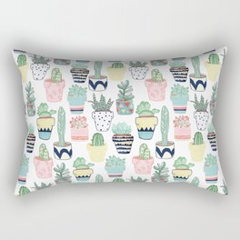 Cute Cacti in Pots Rectangular Pillow