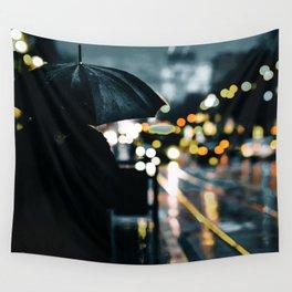 New City Rainy Mood Wall Tapestry